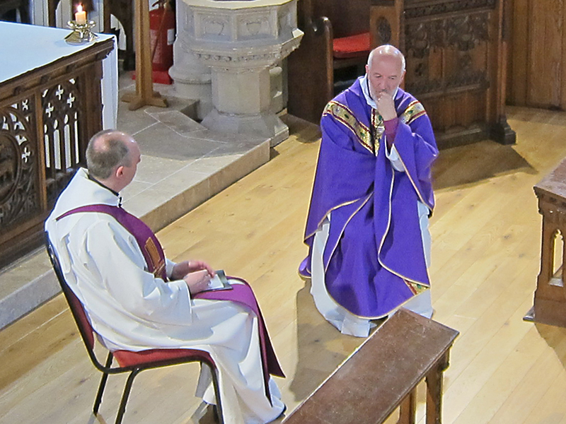 Our rector Graham interviews Bishop David in place of a sermon