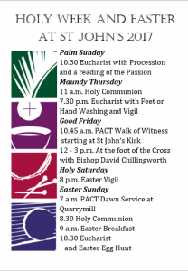 Holy Week + Easter services [poster]